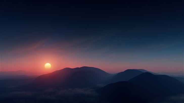 beautiful morning sunrise contour 8k Mac Wallpaper