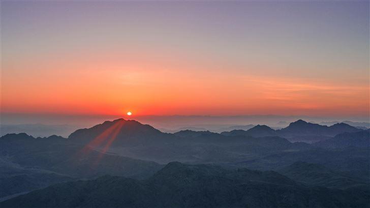 dusk evening sunset landscape 5k Mac Wallpaper