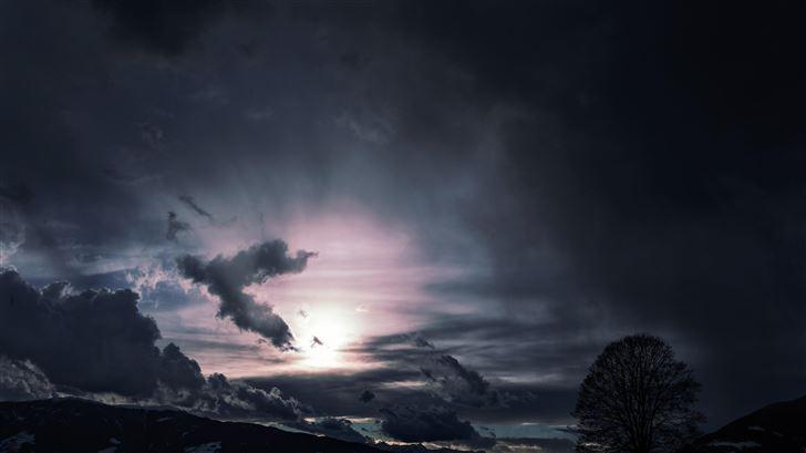 dark clouds sky 5k Mac Wallpaper