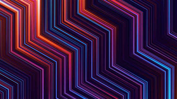 parallel collision lines 5k Mac Wallpaper