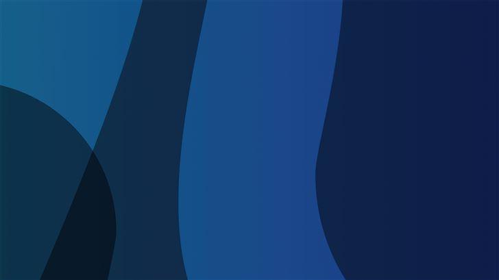 blue colors lines abstract 5k Mac Wallpaper