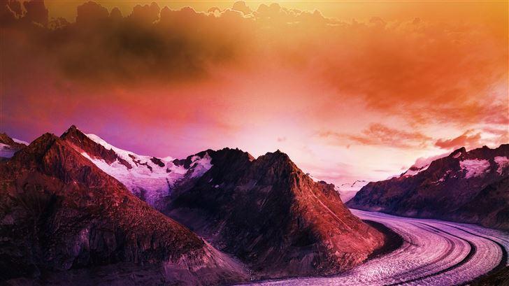 road to nature 5k Mac Wallpaper