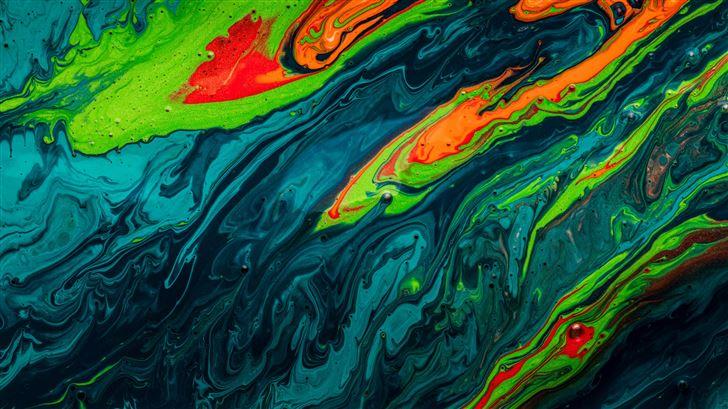 paint liquid splash 5k Mac Wallpaper