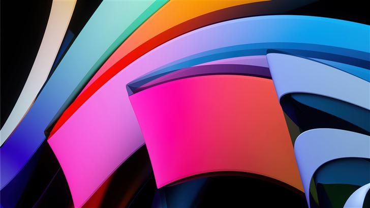 abstract glass 5k Mac Wallpaper