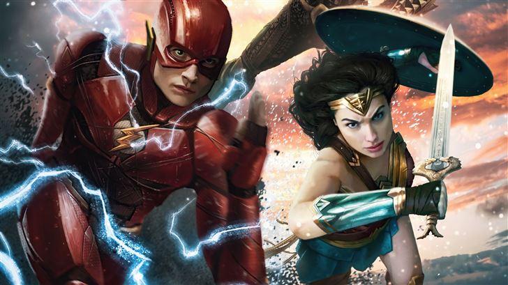 snyder cut justice league heroes 5k Mac Wallpaper