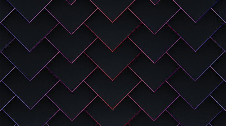 red traingles down 5k Mac Wallpaper