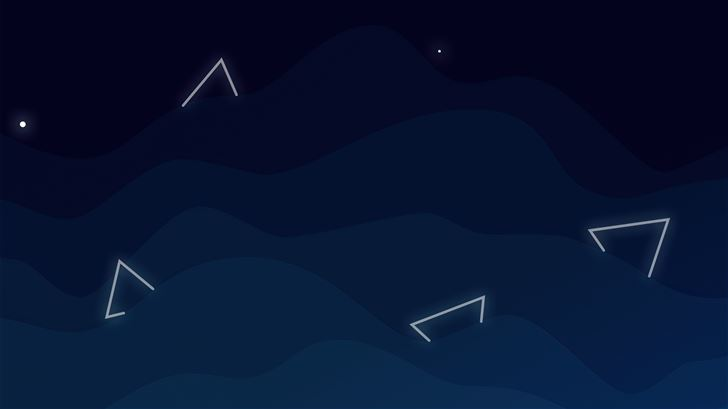 triangles in abstract sky 5k Mac Wallpaper