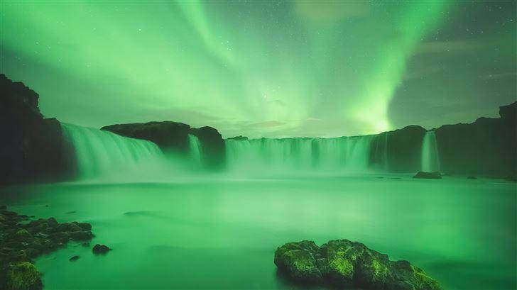 gooafoss iceland waterfall 5k Mac Wallpaper