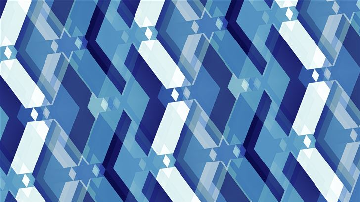 blue interpretation 5k Mac Wallpaper