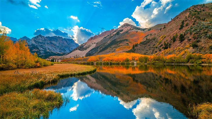california clouds autumn mountains 5k Mac Wallpaper