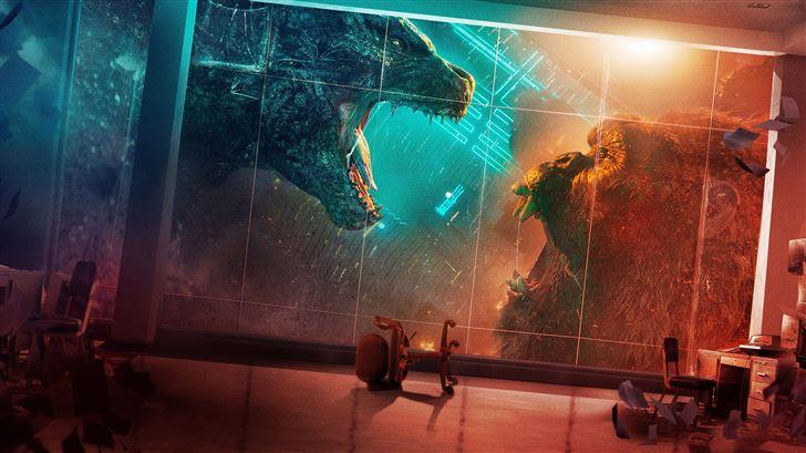 godzilla vs kong 2021 10k Mac Wallpaper