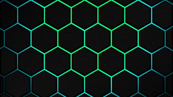 polygon web green 5k Mac Wallpaper