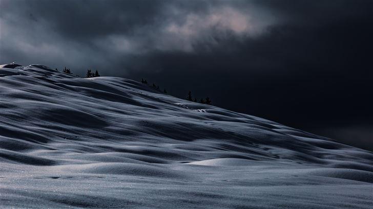winter night view 5k Mac Wallpaper