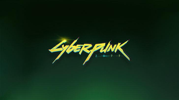 cyberpunk 2077 logo 5k Mac Wallpaper