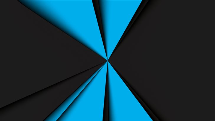 blue dark geometry 8k Mac Wallpaper