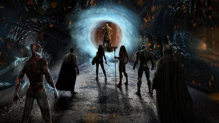 justice league heroes vs darkseid 5k Mac Wallpaper
