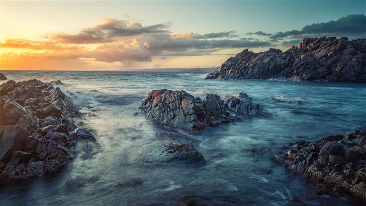 norway sea coast sunrises and sunsets Mac Wallpaper