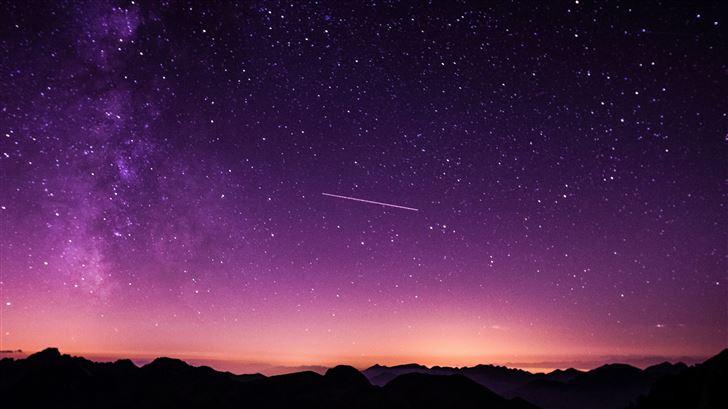 purple night sky 5k Mac Wallpaper