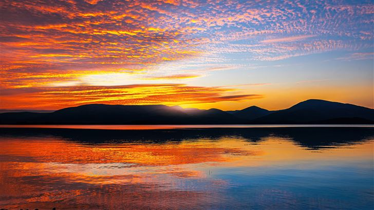 loch lomond sunset scotland 5k Mac Wallpaper