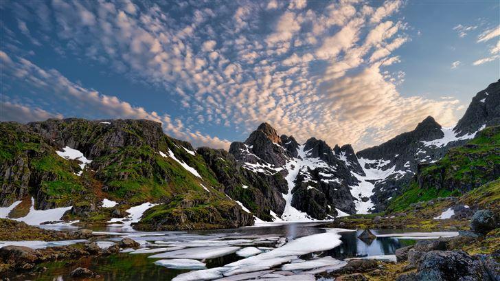 trollfjord norway clouds Mac Wallpaper