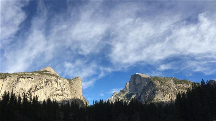 half dome yosemite california 5k Mac Wallpaper