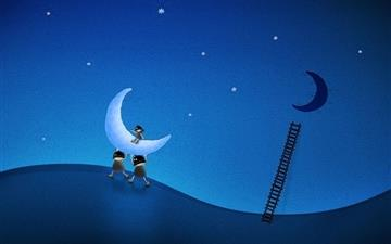 Ladder Moon Thieves Figure Mac wallpaper