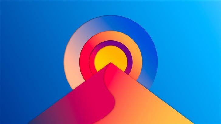 abstract sun digital 8k Mac Wallpaper