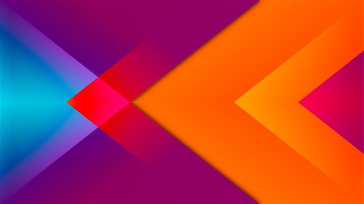 triangle to left abstract 8k Mac Wallpaper