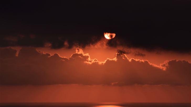 sky cloud sunset dark 4k Mac Wallpaper