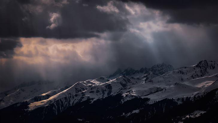 mountains view of switzerland 5k Mac Wallpaper