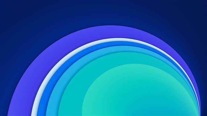 cool circle abstract shape 8k Mac Wallpaper