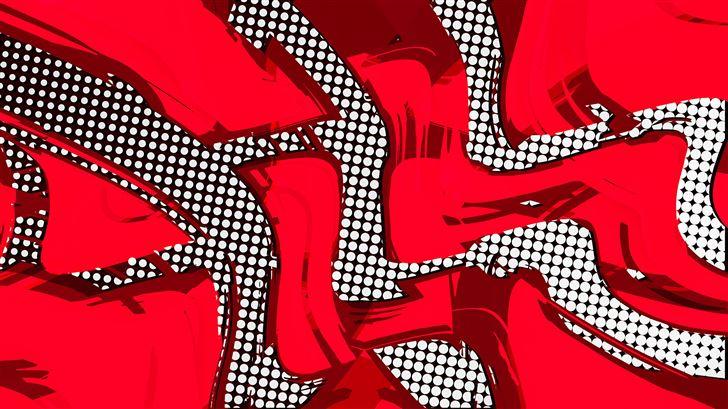 comic red abstract 8k Mac Wallpaper
