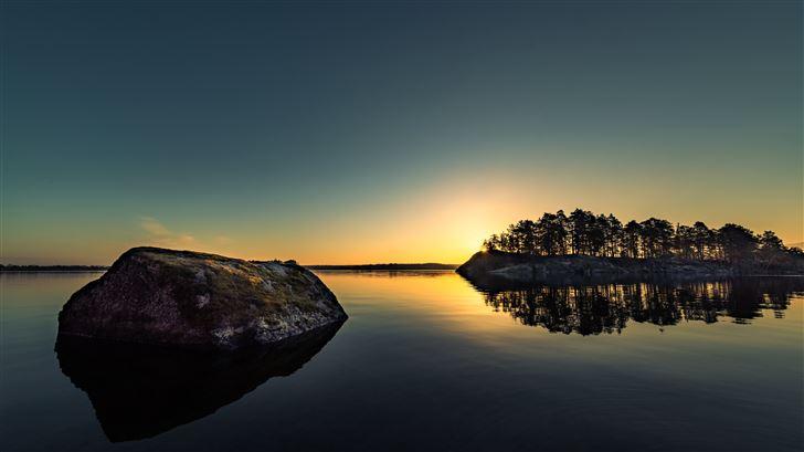 lake side dawn 5k Mac Wallpaper