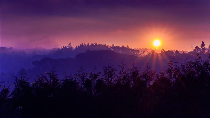 beautiful morning landscape sky cloud 8k Mac Wallpaper