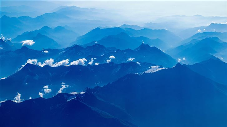 aerial photography of mountains Mac Wallpaper
