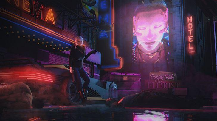 ciri in cyberpunk life 5k Mac Wallpaper