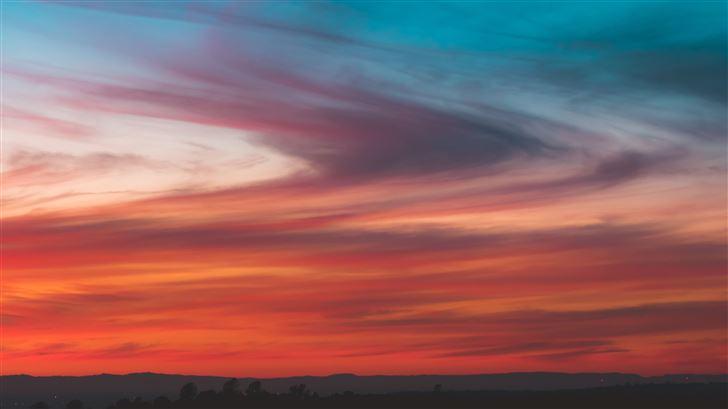 cloud orange burning sky texture Mac Wallpaper