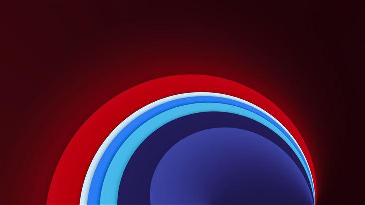 red circle sun shape abstract 8k Mac Wallpaper