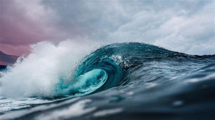 ocean wave 5k Mac Wallpaper