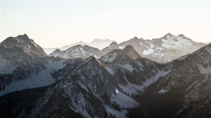 snow mountains 5k Mac Wallpaper