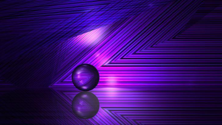 purple lines and ball 5k Mac Wallpaper