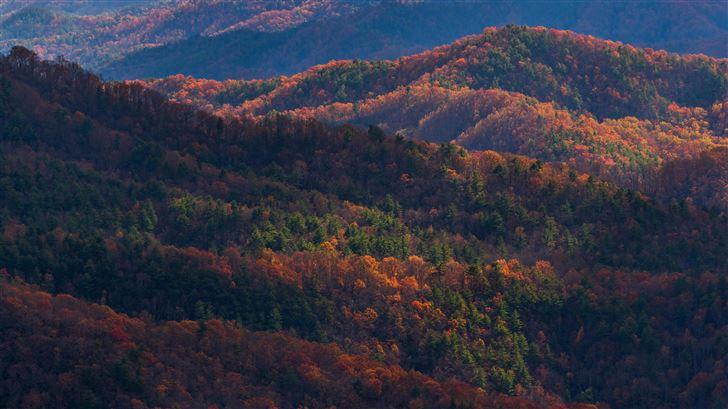 blue ridge mountains in north carolina 8k Mac Wallpaper