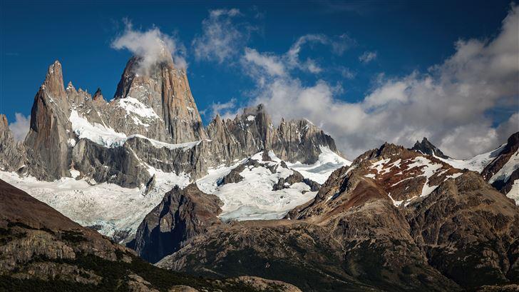 argentina mountains clouds 5k Mac Wallpaper