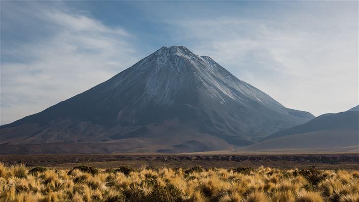 volcano mountain peak landscape Mac Wallpaper