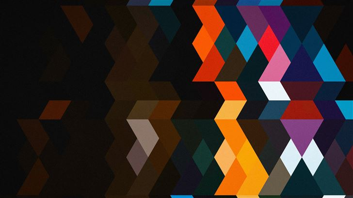 abstract color shields 5k Mac Wallpaper