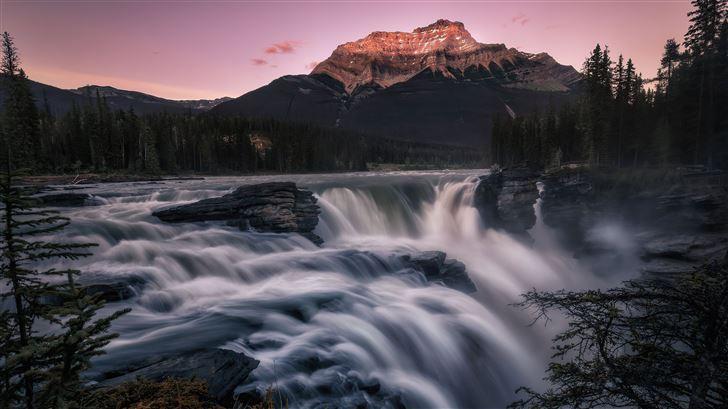 athabasca falls 5k Mac Wallpaper