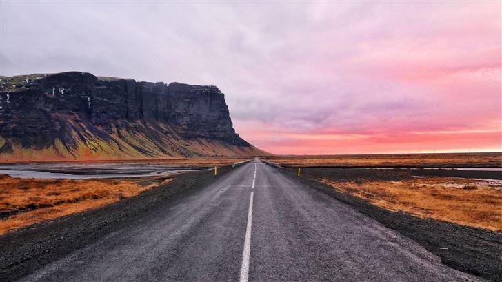 open road sky 5k Mac Wallpaper