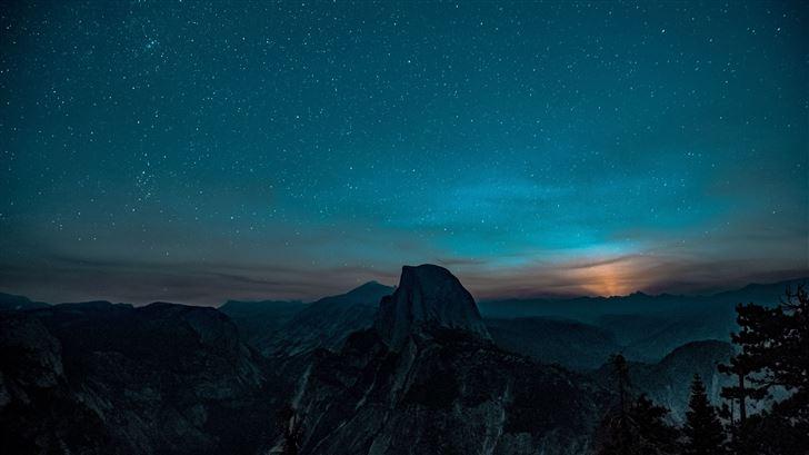 sunrise in yosemite valley 5k Mac Wallpaper