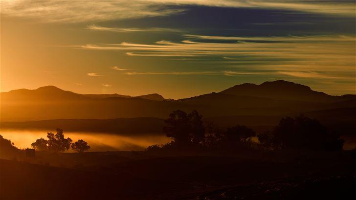 desert morning mist 5k Mac Wallpaper