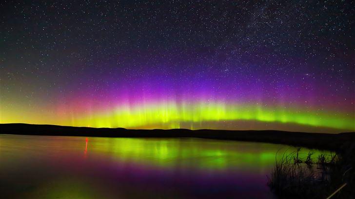aurora evening 5k Mac Wallpaper
